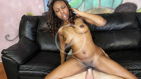 Ebony Marie Riding a Cock on Ghetto Gaggers
